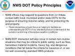 nws dot policy principles9