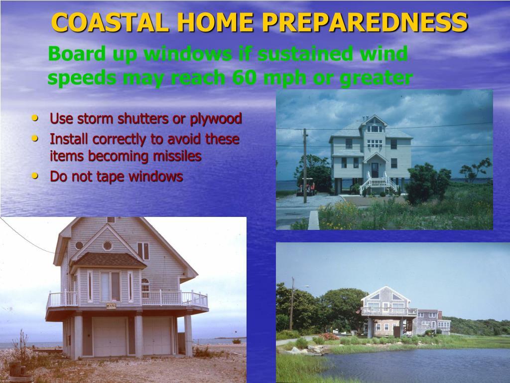COASTAL HOME PREPAREDNESS