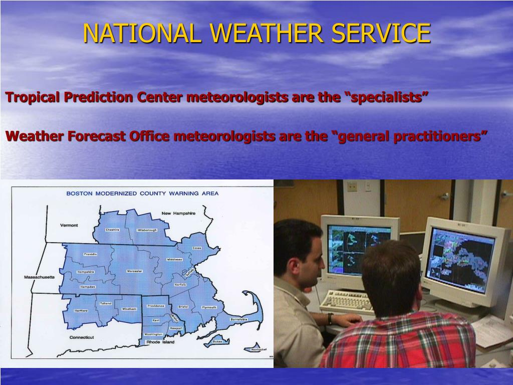 """Tropical Prediction Center meteorologists are the """"specialists"""""""