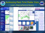 accessing real time radar data