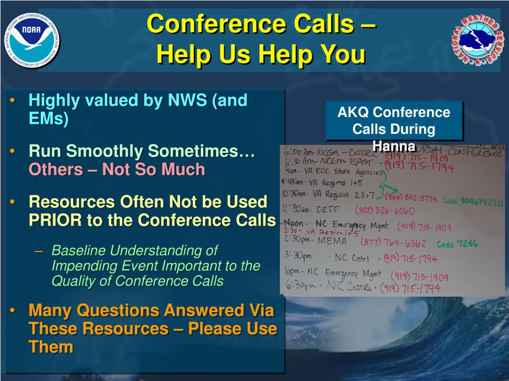 Conference Calls – Help Us Help You