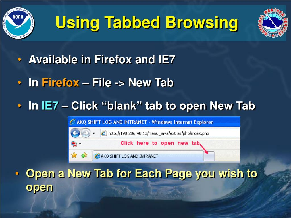 Using Tabbed Browsing