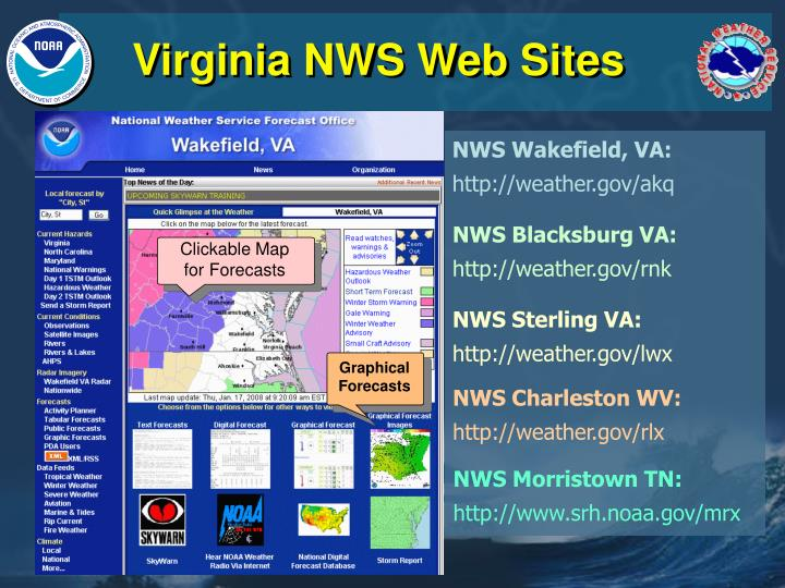 Virginia nws web sites