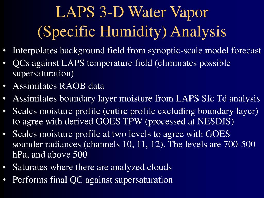 LAPS 3-D Water Vapor