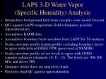 laps 3 d water vapor specific humidity analysis