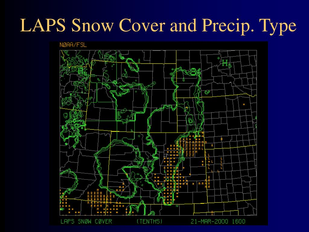 LAPS Snow Cover and Precip. Type