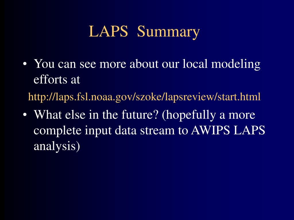 LAPS  Summary