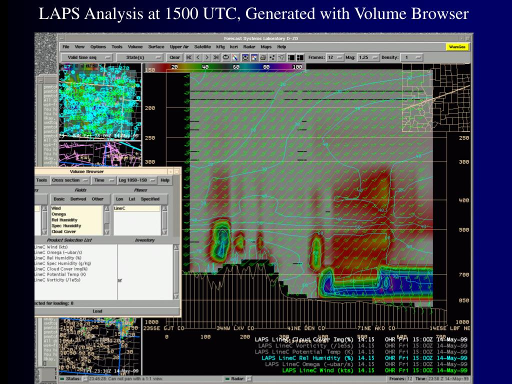 LAPS Analysis at 1500 UTC, Generated with Volume Browser