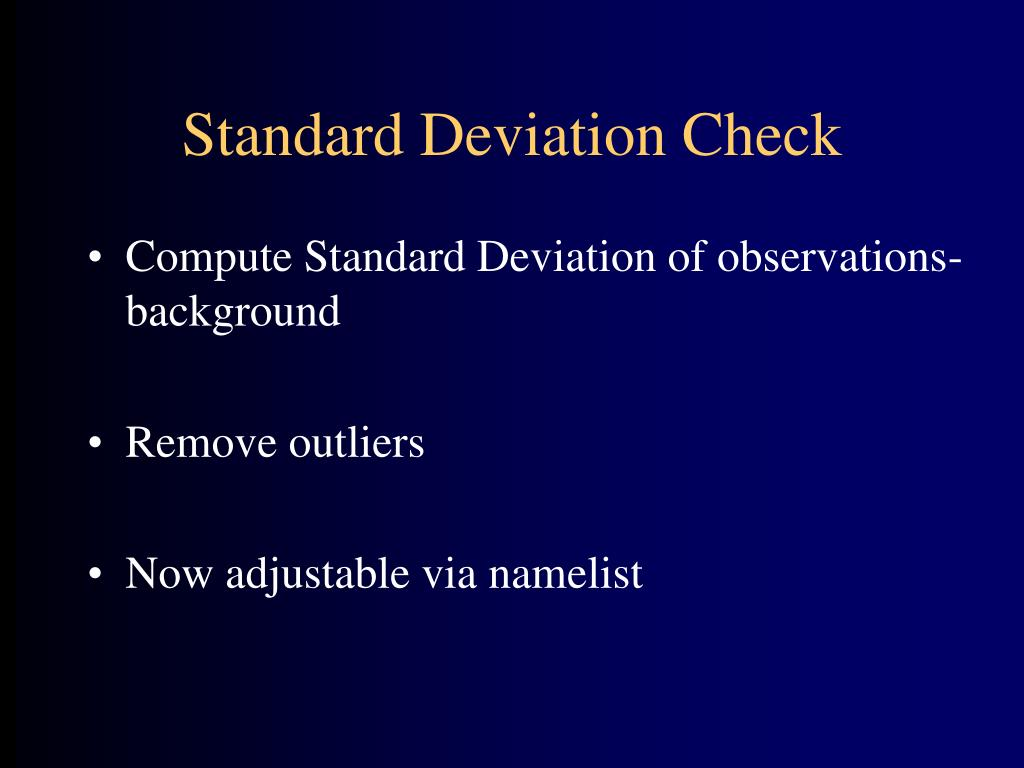 Standard Deviation Check