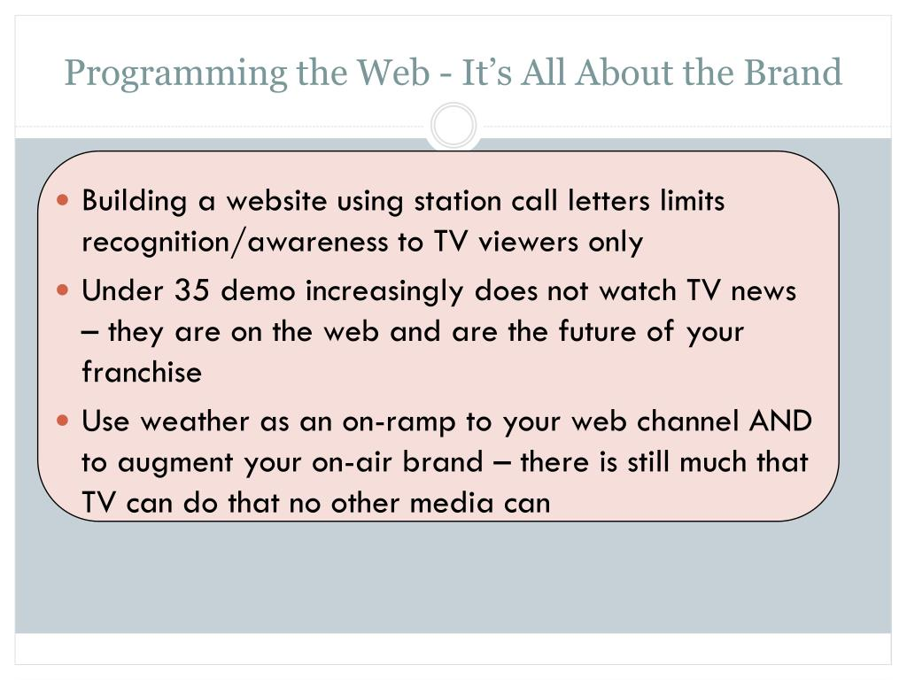 Programming the Web - It's All About the Brand