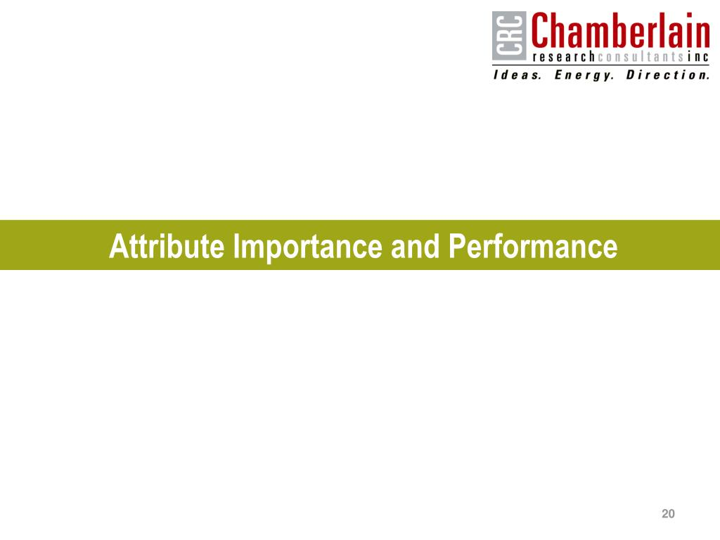 Attribute Importance and Performance