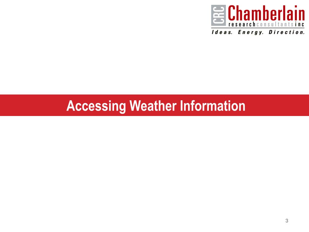 Accessing Weather Information