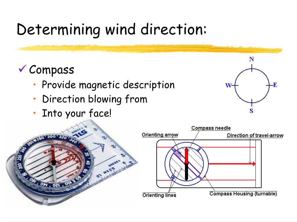 Determining wind direction:
