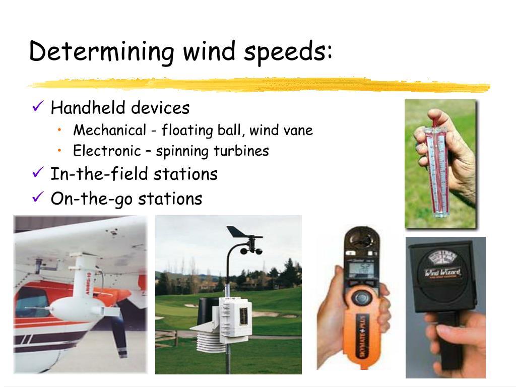 Determining wind speeds:
