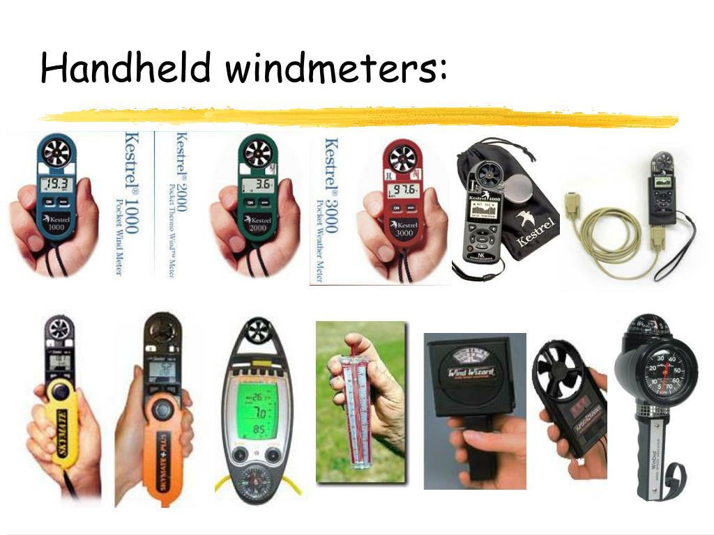 Handheld windmeters:
