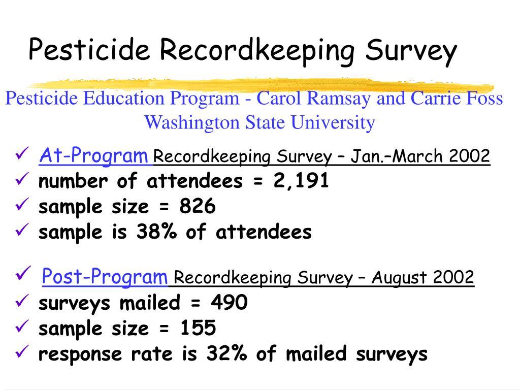 Pesticide Recordkeeping Survey