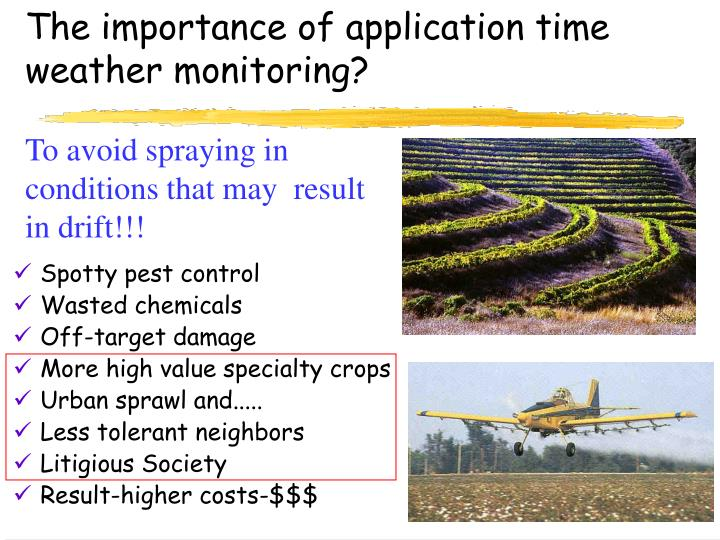 The importance of application time weather monitoring