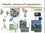 weather stations with anemometers