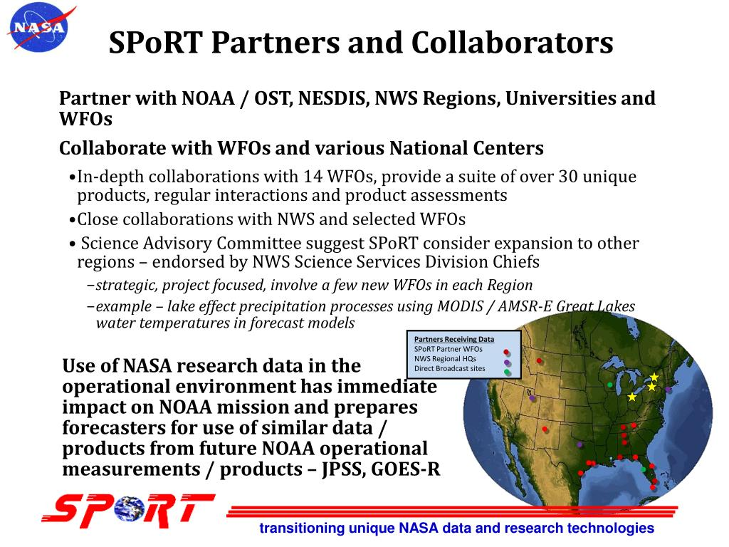 SPoRT Partners and Collaborators