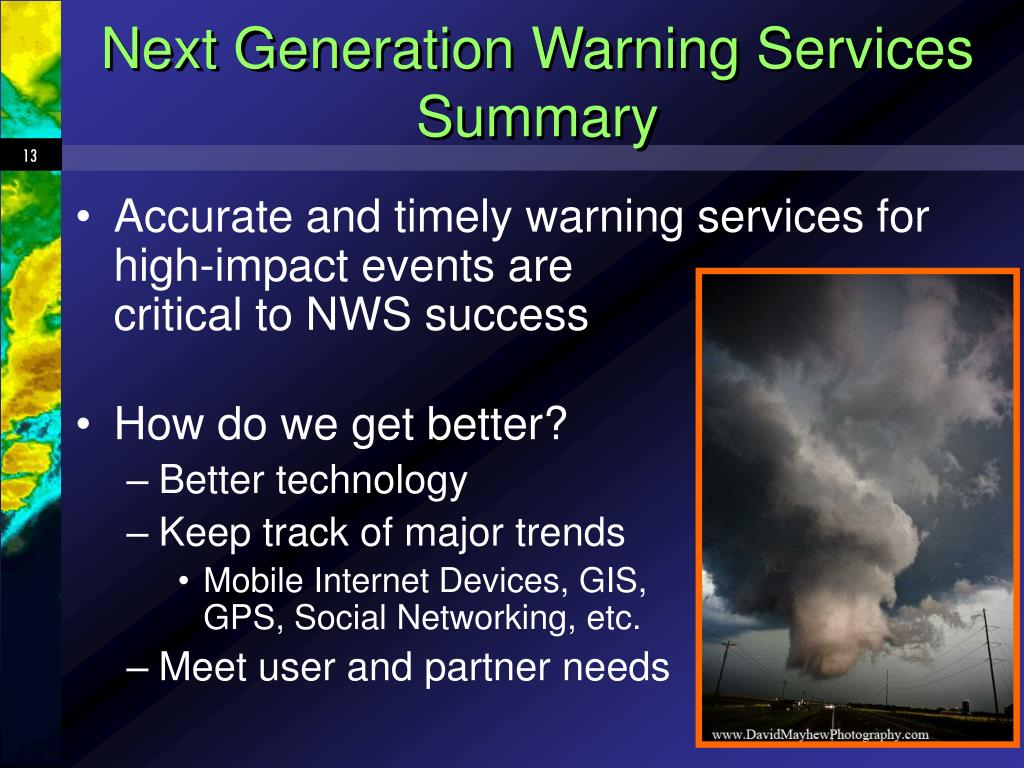 Next Generation Warning Services