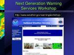 next generation warning services workshop9