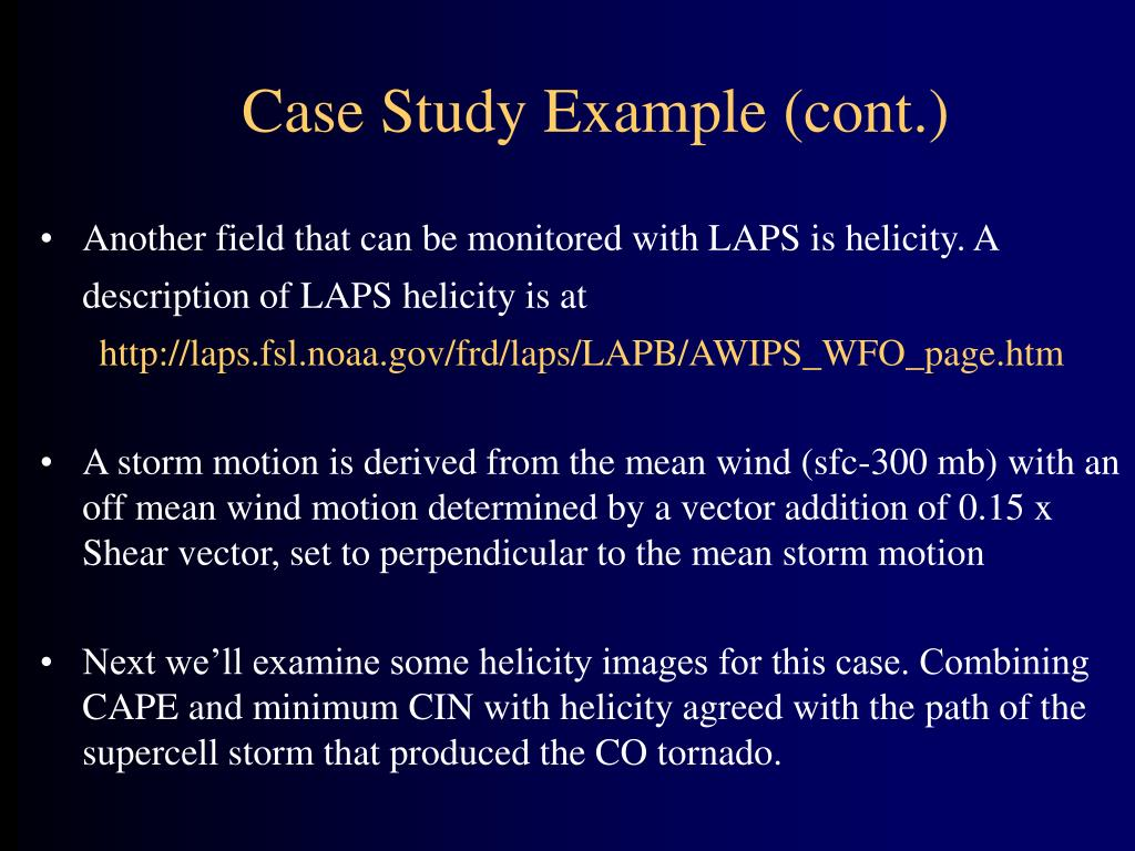 Case Study Example (cont.)
