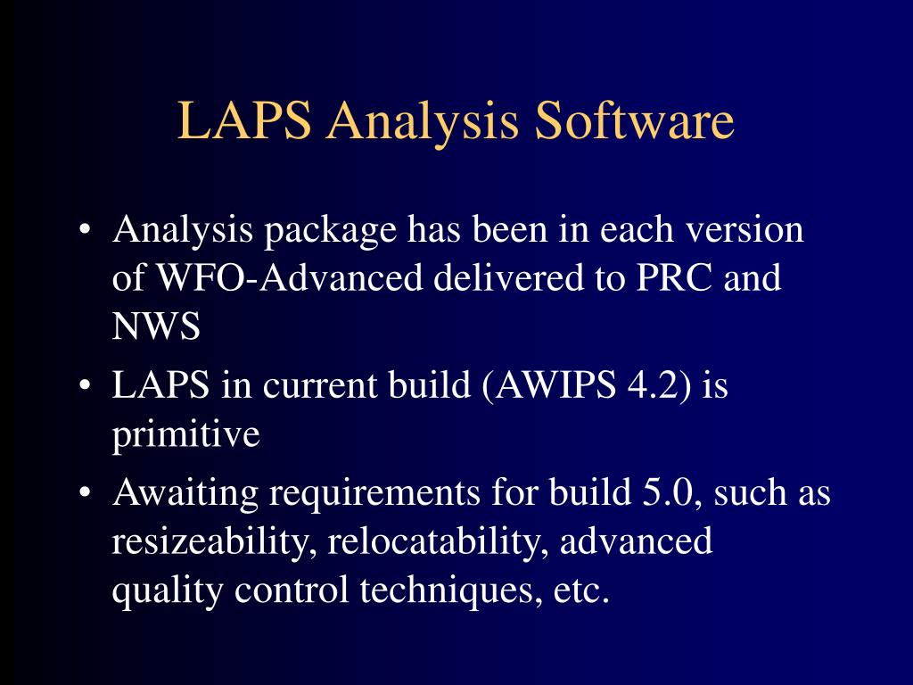 LAPS Analysis Software
