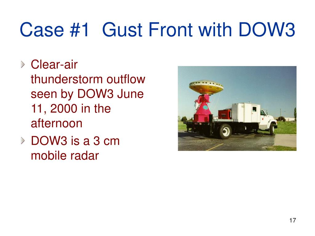 Case #1  Gust Front with DOW3