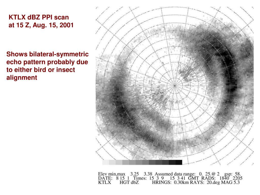 KTLX dBZ PPI scan