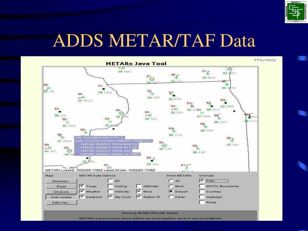 ADDS METAR/TAF Data