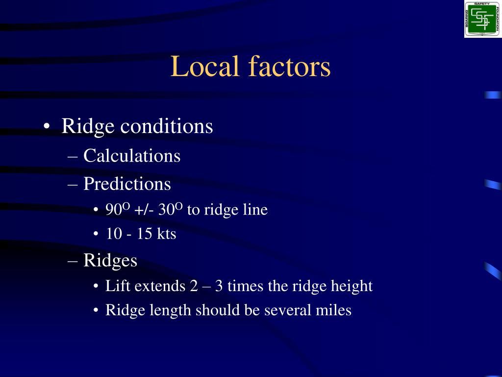 Local factors