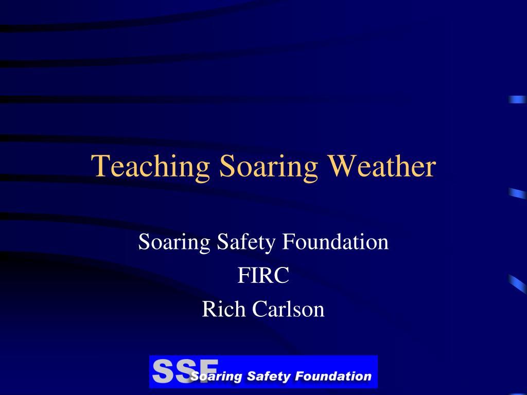 Teaching Soaring Weather