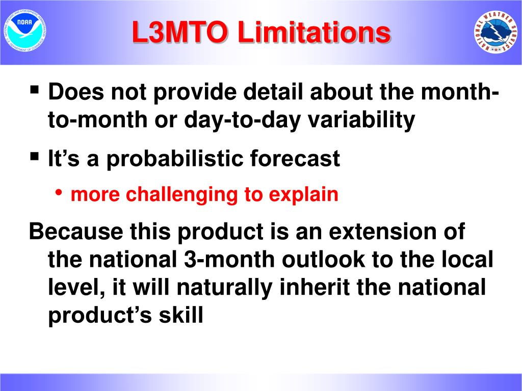 L3MTO Limitations