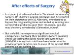 after effects of surgery