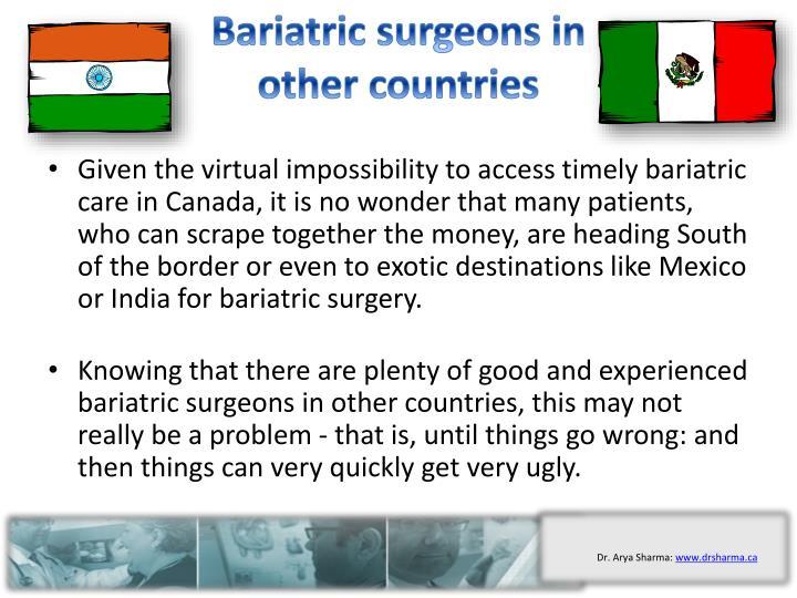 Bariatric surgeons in