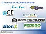 leva thanks our 2010 interbike sponsors