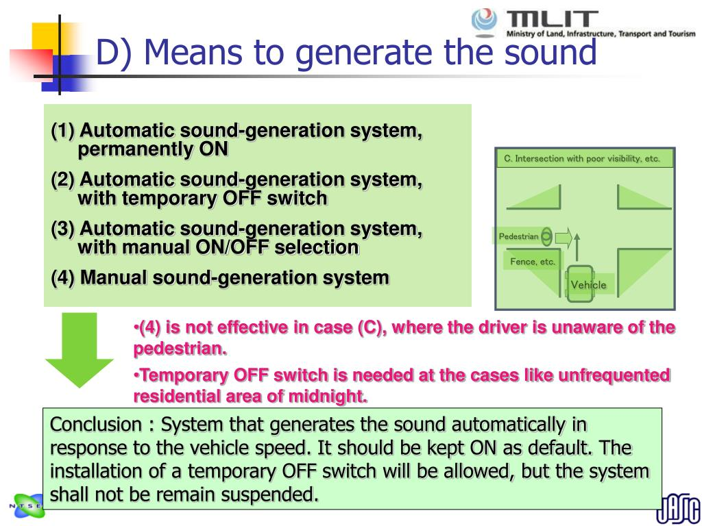 D) Means to generate the sound