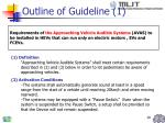 outline of guideline 1