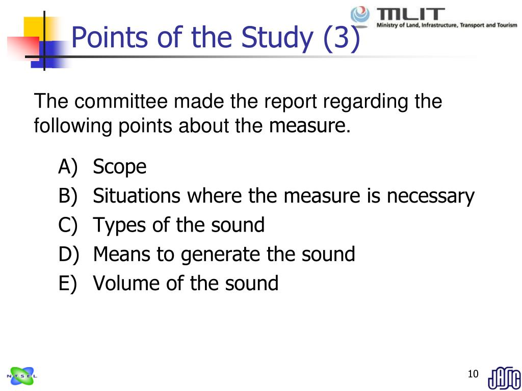 Points of the Study (3)