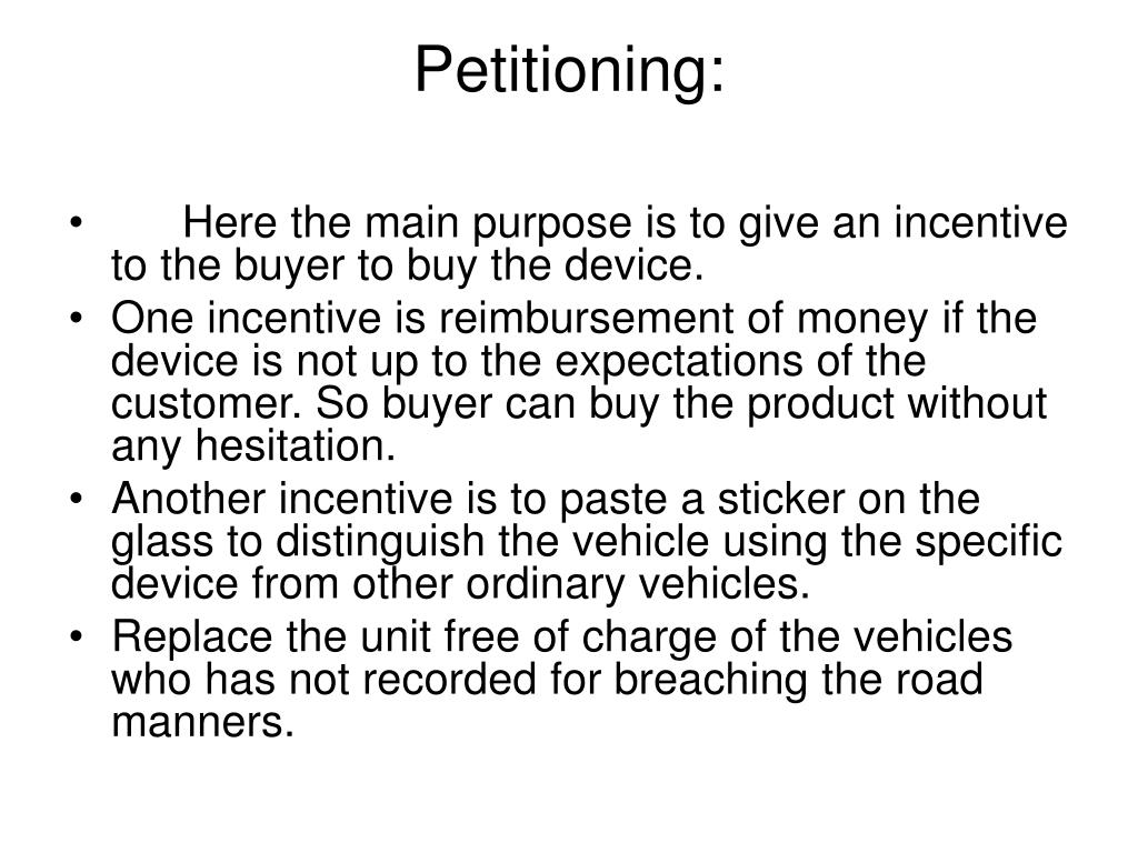 Petitioning: