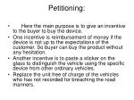 petitioning