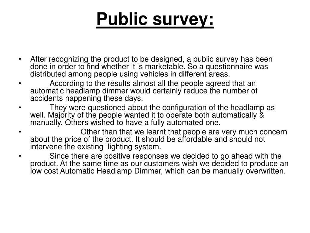 Public survey: