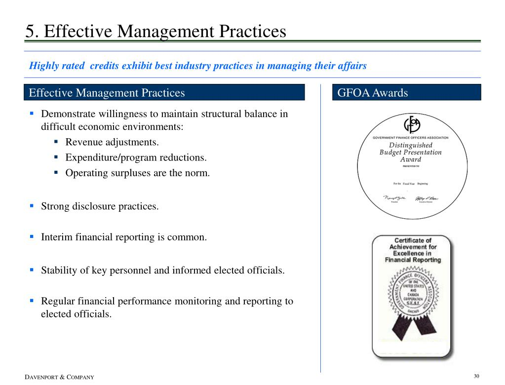 5. Effective Management Practices