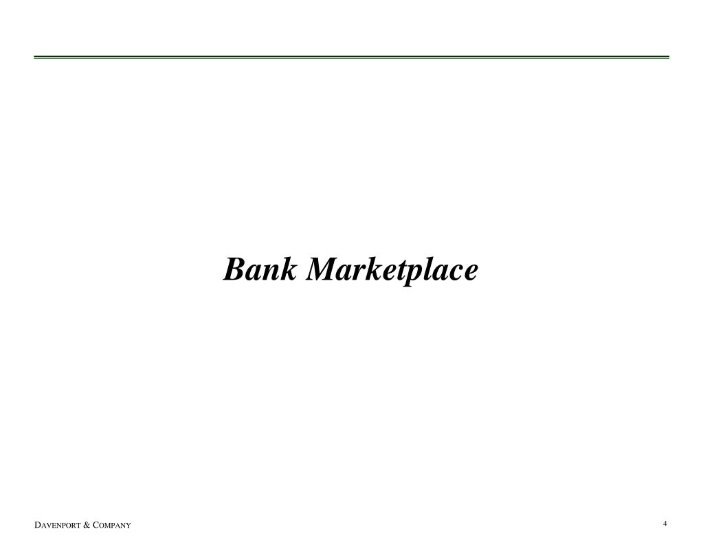 Bank Marketplace