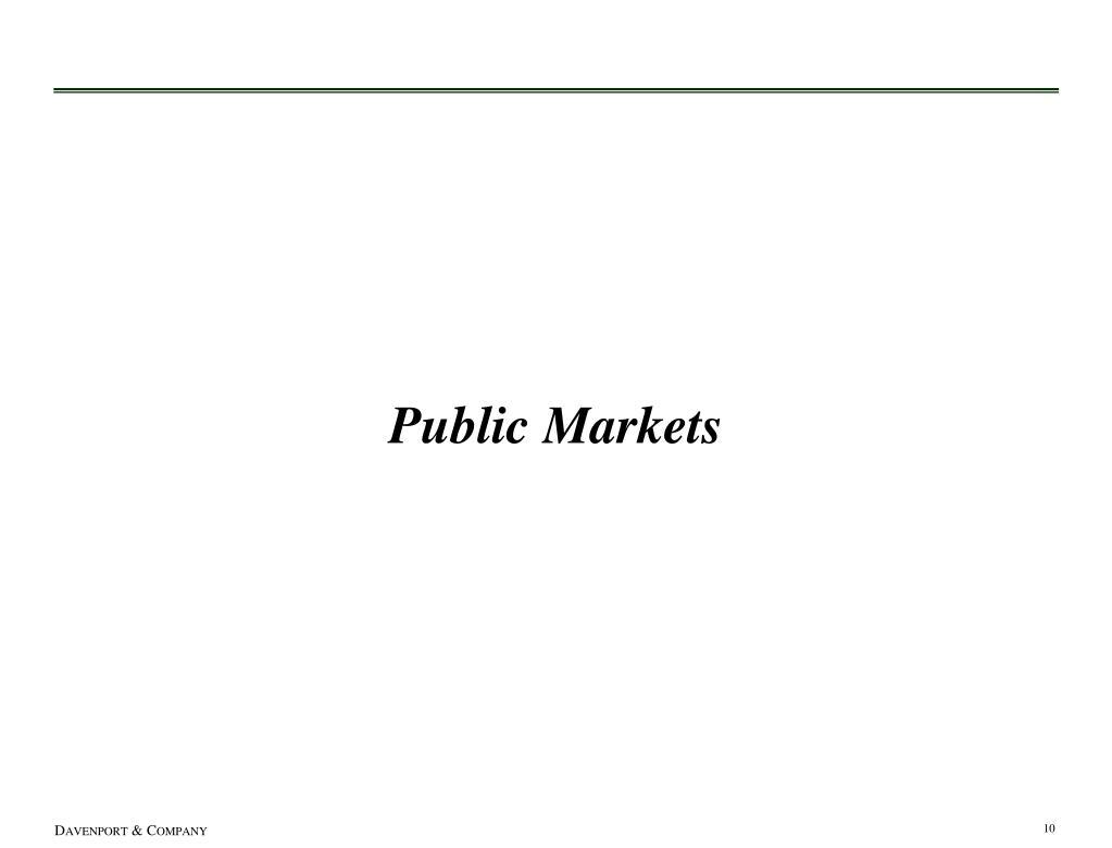 Public Markets