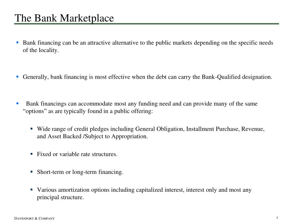 The Bank Marketplace
