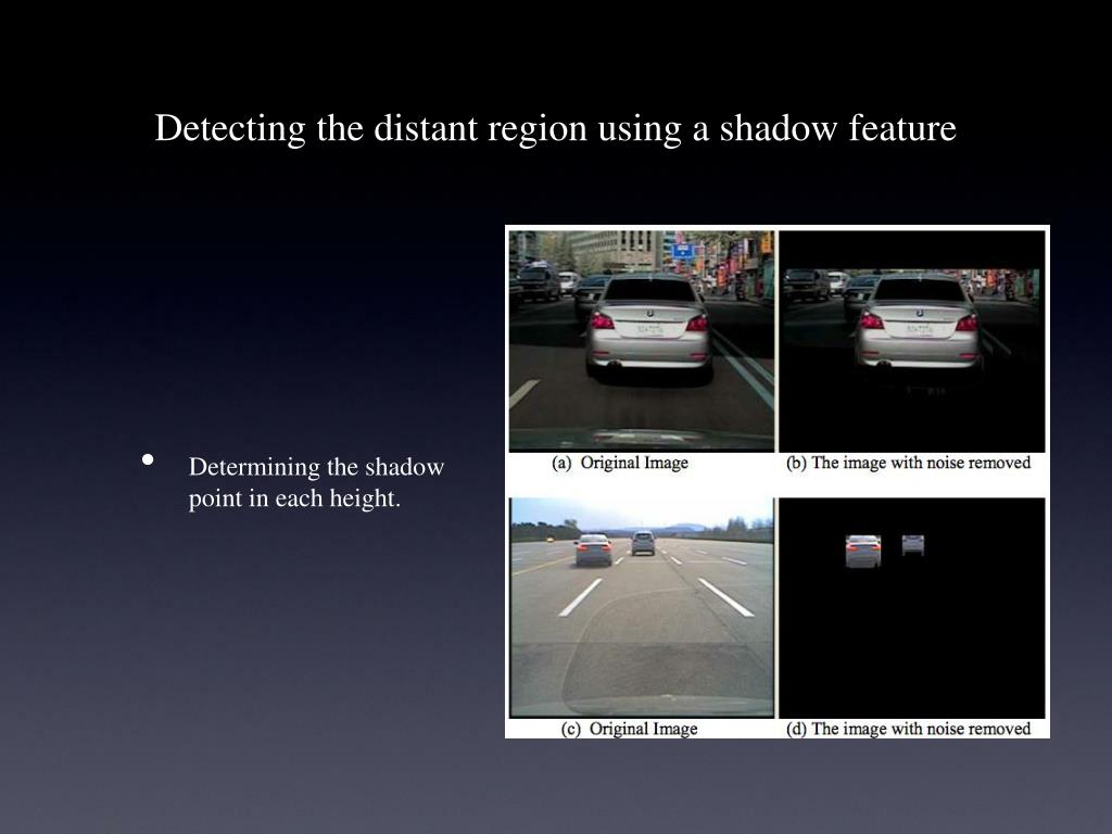 Detecting the distant region using a shadow feature
