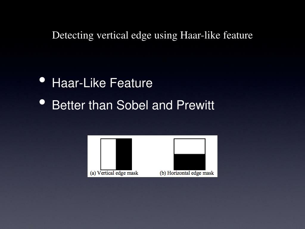 Detecting vertical edge using Haar-like feature