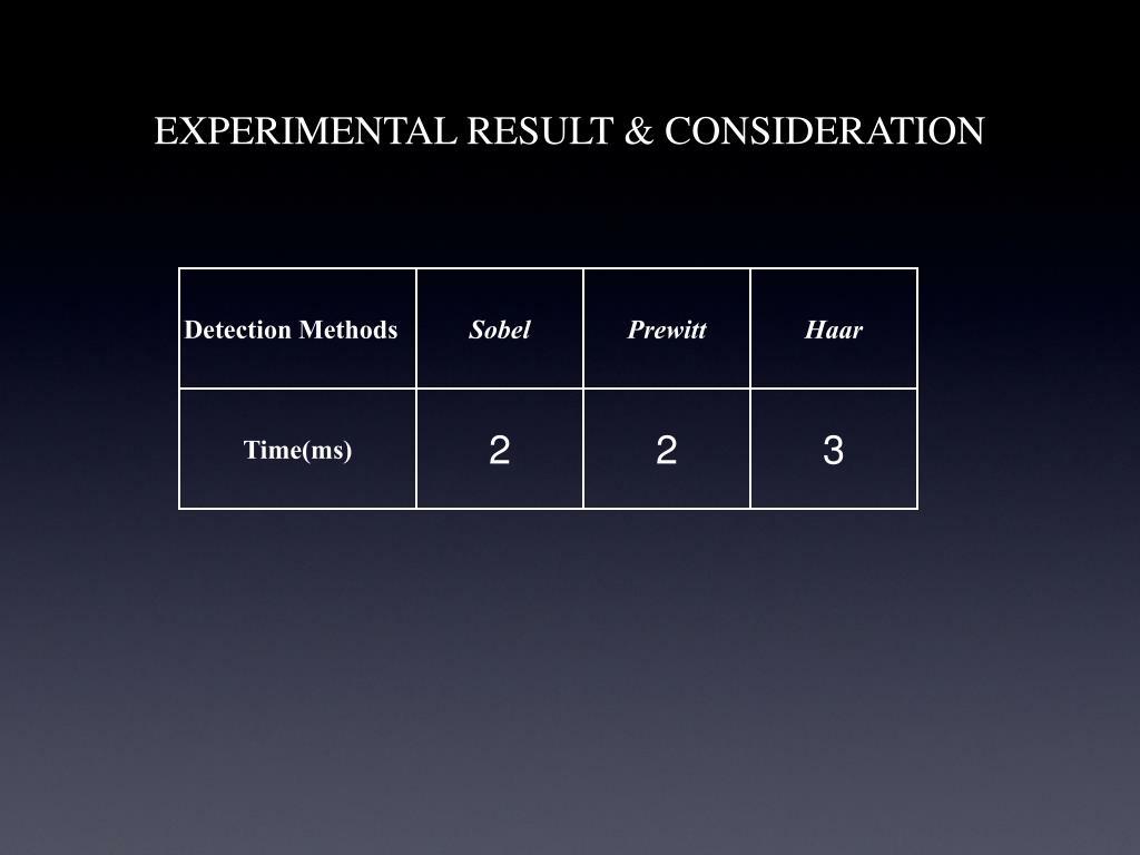 EXPERIMENTAL RESULT & CONSIDERATION