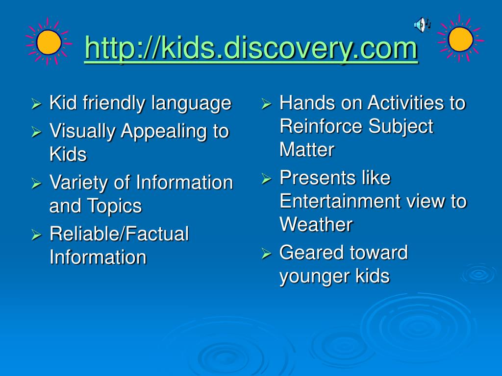 Kid friendly language